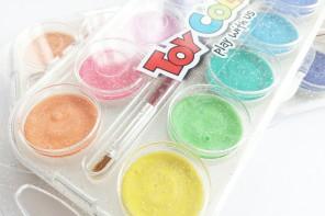 . perleťové vodové farby .